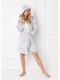 Теплый халат ARUELLE Wild look grey
