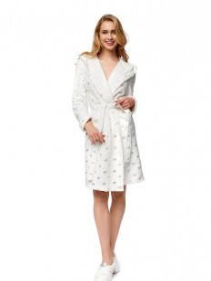 Женский уютный халат с капюшоном и облачками ESOTIQ 37350 nice