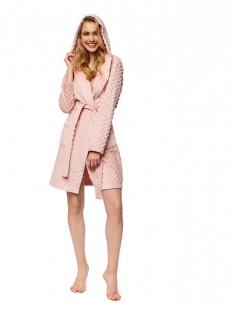 Теплый женский халат с капюшоном и карманами ESOTIQ 37383 nirel