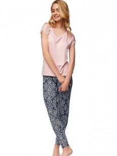 Хлопковая женская пижама с брюками принтованными ESOTIQ NIXON