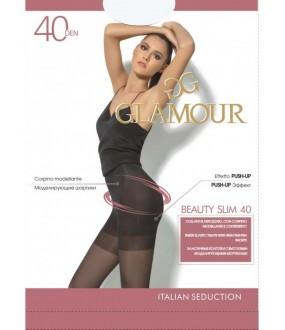 Эластичные прозрачные колготки Glamour BEAUTE SLIM 40