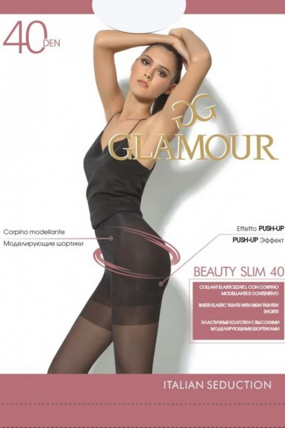 Корректирующие пуш ап колготки Glamour BEAUTY SLIM 40 - фото 1