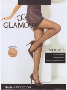 Бесшовные колготки в сетку Glamour MICRORETE
