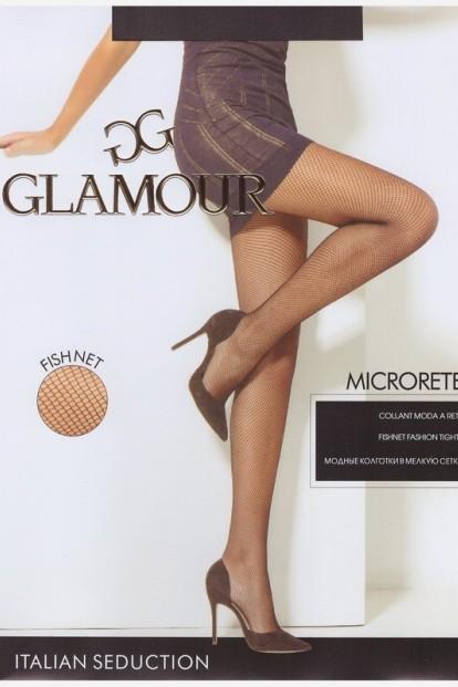 Бесшовные колготки в мелкую сетку Glamour MICRORETE - фото 1