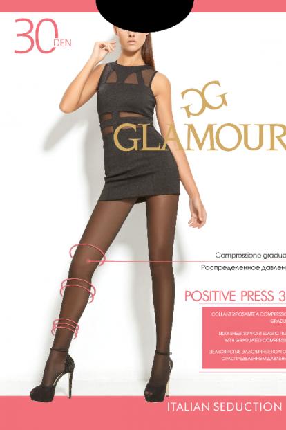 Матовые поддерживающие колготки Glamour POSITIVE PRESS 30 - фото 1
