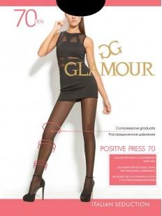 Матовые антицеллюлитные колготки Glamour POSITIVE PRESS 70