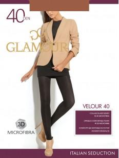 Классические матовые колготки Glamour VELOUR 40