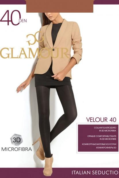 Классические матовые колготки Glamour VELOUR 40 - фото 1