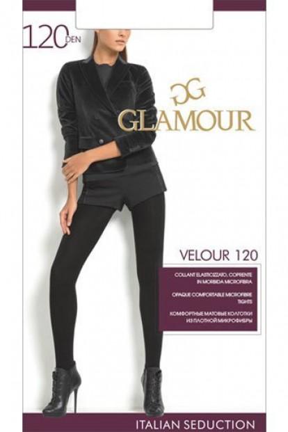 Теплые матовые колготки с микрофиброй Glamour VELOUR 120 - фото 1