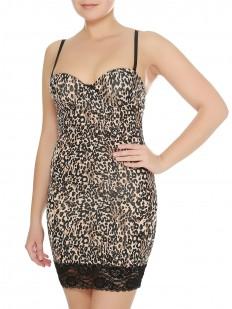 Женская леопардовая корректирующая грация на тонких бретелях