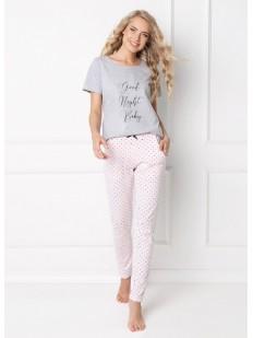 Женская хлопковая пижама со штанами