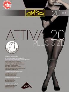 Классические колготки с шортиками Omsa ATTIVA 20 XXL Plus Size