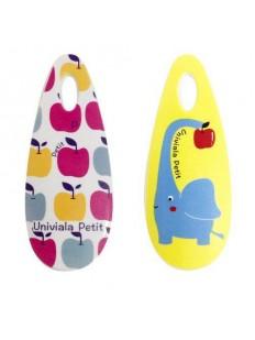 Компактная массажная расческа для детей (рисунок Слон / Яблоко)