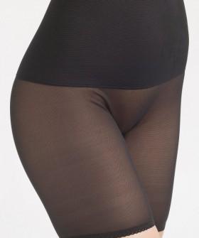 Корсетные трусы панталоны с широким поясом для коррекции живота