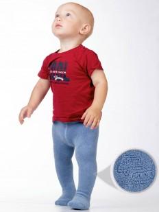 Махровые детские колготки для мальчиков (0-2 года) с машинками