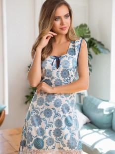 Летняя женская трикотажная сорочка без рукавов