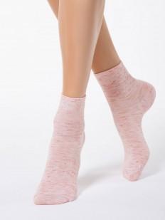 Меланжевые всесезонные женские носки из вискозы