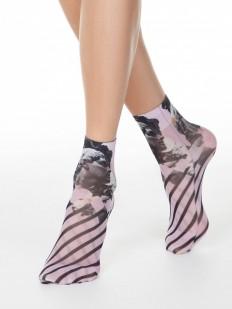 Модные женские носочки со скульптурным принтом 40 DEN