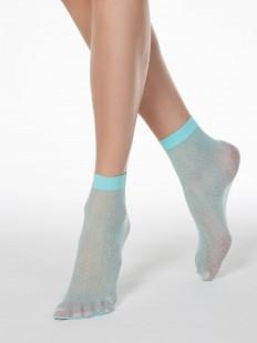 Модные женские капроновые носочки 20 DEN в пастельных тонах