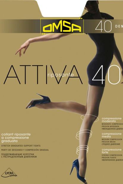 Корректирующие колготки большого размера Omsa Attiva 40 XXL