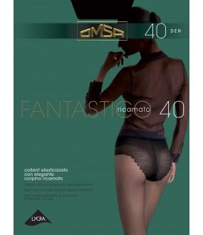 Классические колготки с кружевными трусиками бикини 40 ден