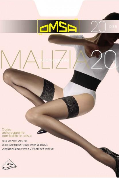 Классические кружевные чулки Omsa MALIZIA 20 - фото 1