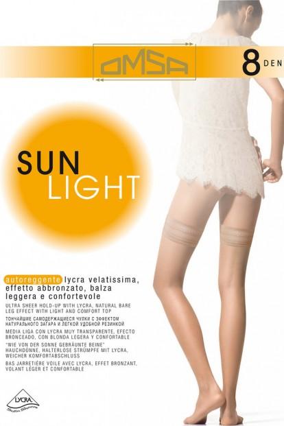 Ультратонкие чулки с гладкой резинкой OMSA SUN LIGHT 8 - фото 1