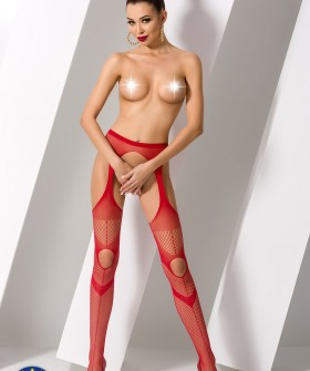 Чулки с поясом Passion S 009 Red Erotic Line