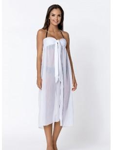 Женское белое пляжное платье парео