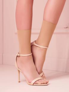 Тонкие высокие прозрачные женские носки без резинки