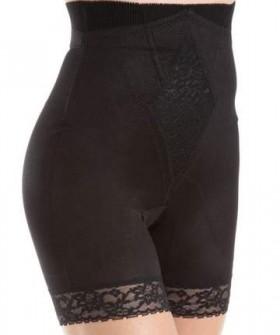 Высокие корректирующие панталоны с кружевом и креплениями для чулок