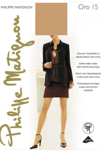 Классические летние колготки Philippe Matignon ORO 15 - фото 1