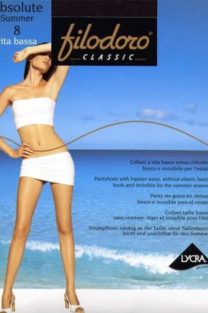 Классческие колготки Filodoro Classic Absolute 8 Vita Bassa
