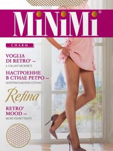 Бесшовные колготки в сетку Minimi RETINA