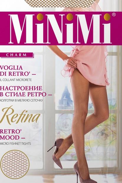 Бесшовные колготки в мелкую сетку Minimi RETINA - фото 1