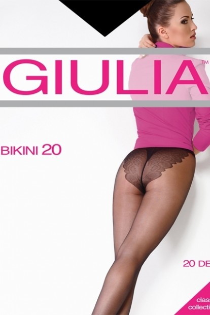 Классические колготки с кружевными трусиками Giulia BIKINI 20 - фото 1