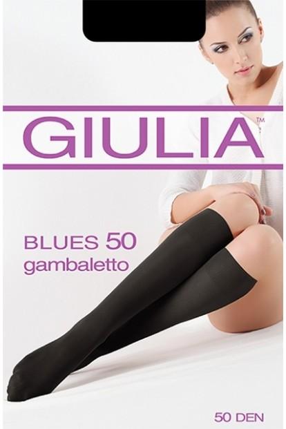 Матовые женские гольфы Giulia BLUES 50 microfibra - фото 1
