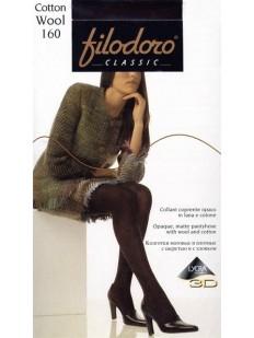 Теплые хлопковые колготки с шерстью Filodoro Classic COTTON WOOL 160