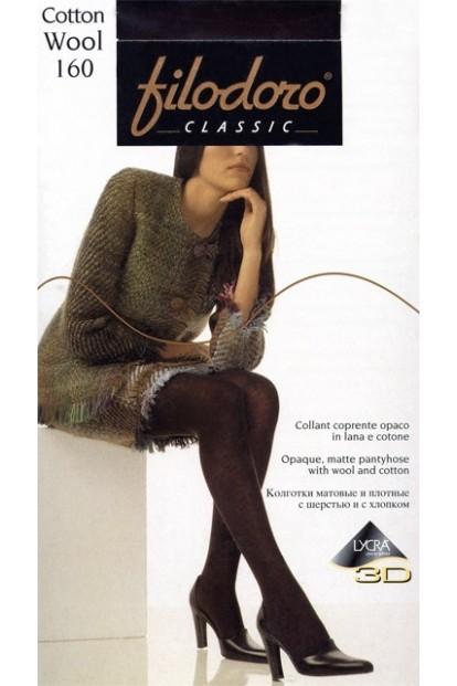 Теплые шерстяные колготки Filodoro Classic Cotton Wool 160