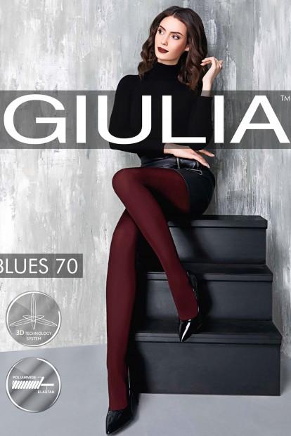 Цветные матовые колготки Giulia BLUES 70