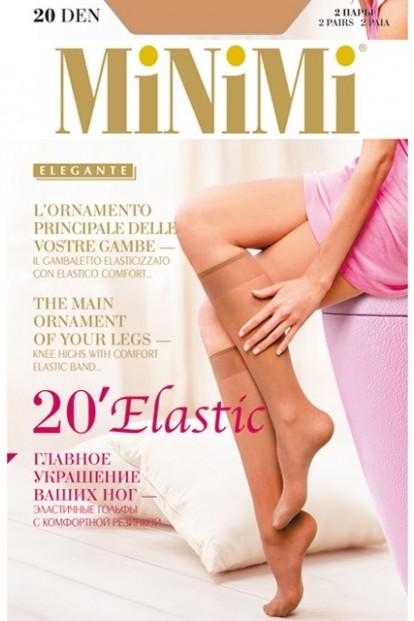 Тонкие гольфы Minimi Elastic 20 Gambaletto (2 п.) - фото 1