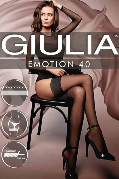 Классические цветные кружевные чулки Giulia EMOTION 40 - фото 1