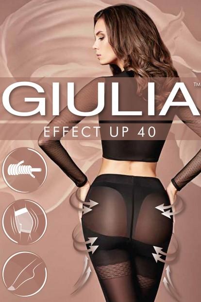 Корректирующие пуш ап колготки 40 ден Giulia EFFECT UP