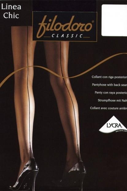 Летние колготки со швом Filodoro Classic Linea Chic 20