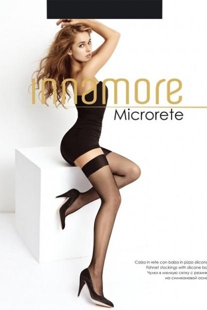 Ультратонкие чулки в мелкую сетку с гладкой резинкой Innamore MICRORETE - фото 1