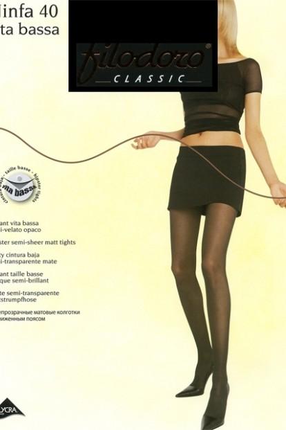Колготки с низкой посадкой Filodoro Classic NINFA 40 Vita Bassa - фото 1