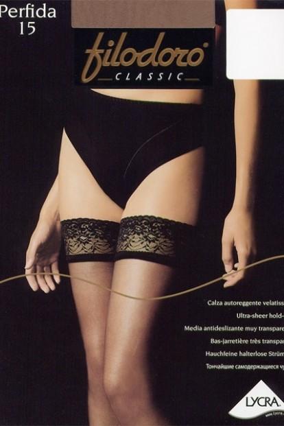 Тонкие кружевные чулки Filodoro Classic Perfida 15 - фото 1
