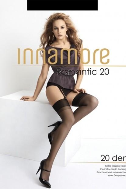 Тонкие шелковистые чулки под пояс с гладкой резинкой Innamore ROMANTIC 20 den - фото 1