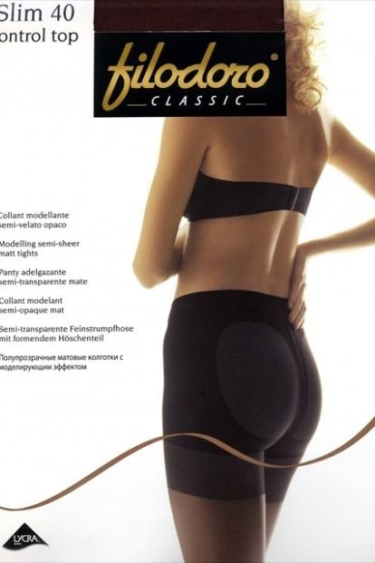 Утягивающие пуш ап колготки Filodoro Classic SLIM 40 Control Top - фото 1