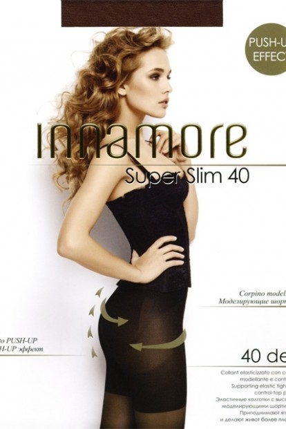 Утягивающие пуш ап колготки Innamore SUPER SLIM 40 - фото 1